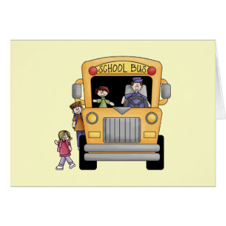 Yellow School Bus Tshirts and Gifts Cards