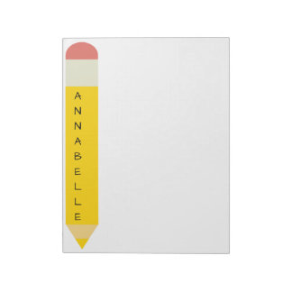 Yellow School Pencil Notepad