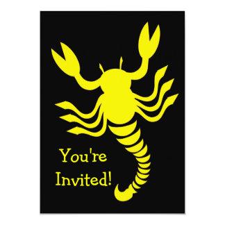 Yellow Scorpion Invitation