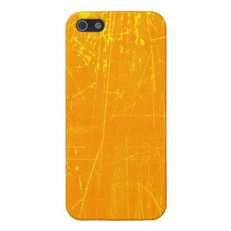 Yellow Scratched Aged and Worn Texture iPhone 5 Covers