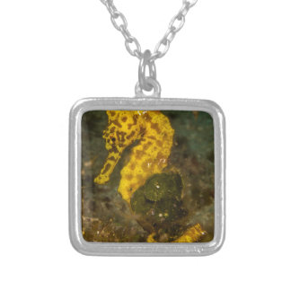 Yellow Seahorse Silver Plated Necklace