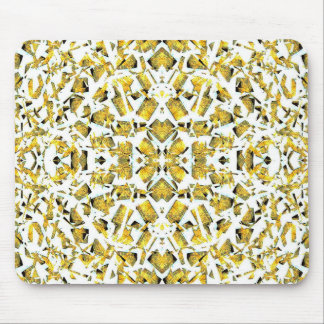 Yellow Shapes Mouse Pad