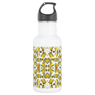 Yellow Shapes Water Bottle
