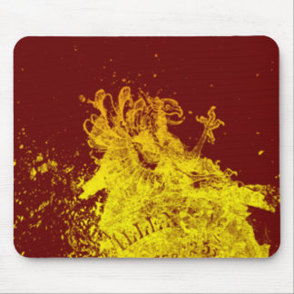 Yellow Shield Mouse Pad