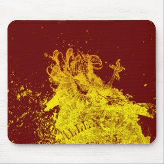 Yellow Shield Mousepads