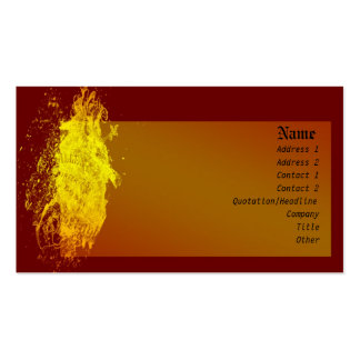 Yellow Shield Pack Of Standard Business Cards
