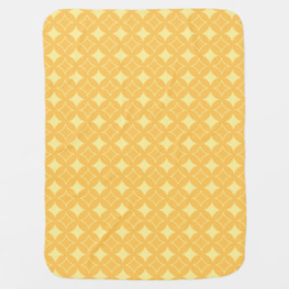 Yellow shippo pattern swaddle blankets