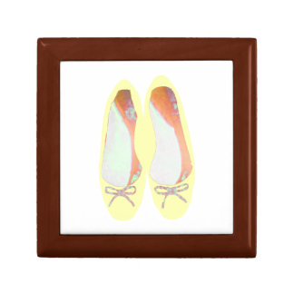 Yellow Shoes Small Square Gift Box
