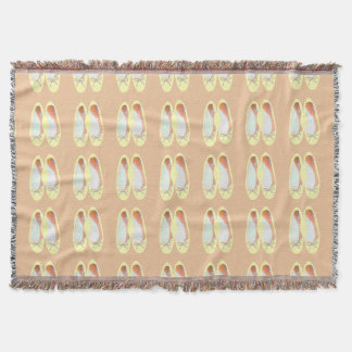 Yellow Shoes Throw Blanket