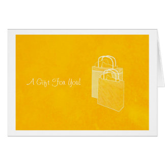 Yellow Shopping Spree Money Enclosed Note Card