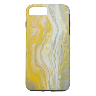 Yellow & Silver Abstract iPhone Case