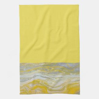 Yellow & Silver Kitchen Towel