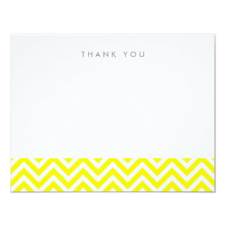 Yellow Simple Chevron Thank You Note Cards 11 Cm X 14 Cm Invitation Card
