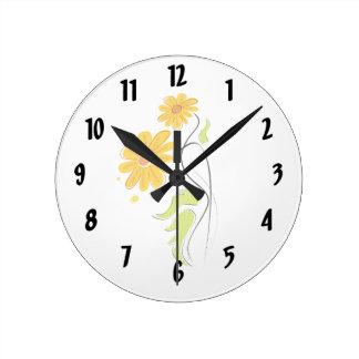 simple yellow wall clocks