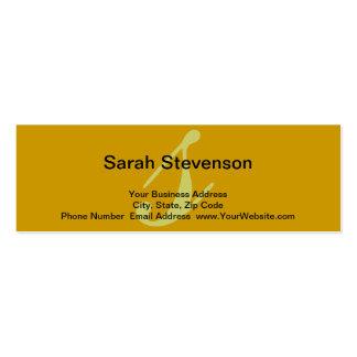 Yellow Simple Monogram Consultant Business Card