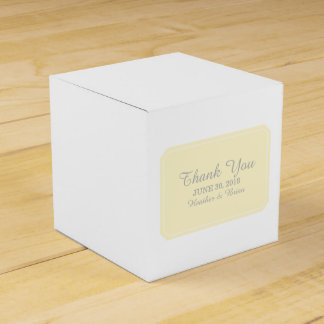 Yellow Simply Elegant Favor Boxes