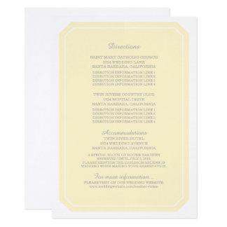 Yellow Simply Elegant Information Card