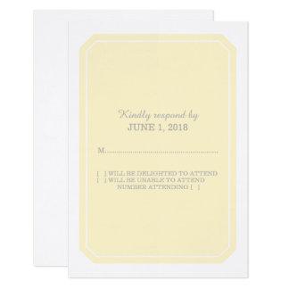 Yellow Simply Elegant Response Card