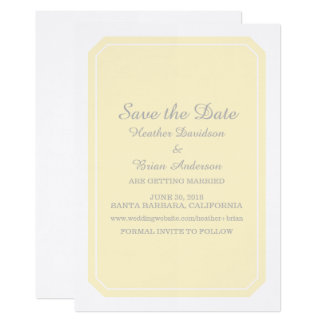 Yellow Simply Elegant Save the Date Invite
