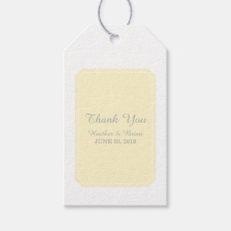 Yellow Simply Elegant Wedding Gift Tags
