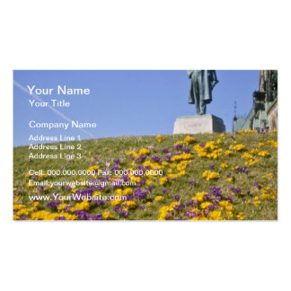 yellow Sir Wilfrid Laurier statue, Parliament Hill Pack Of Standard Business Cards