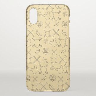 Yellow Skull and Bones pattern iPhone X Case