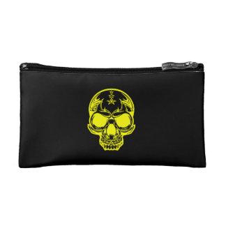 Yellow Skull Cosmetic Bag