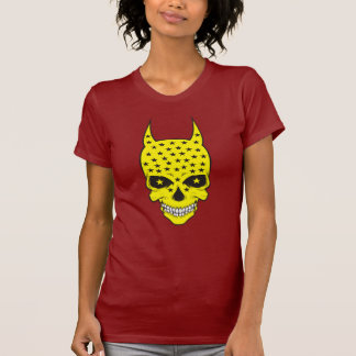 Yellow skull with horns t-shirt