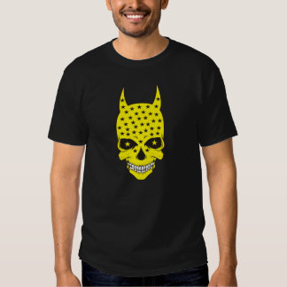 Yellow skull with horns t-shirts