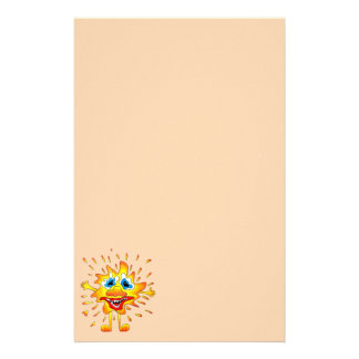 Yellow smile stationery paper