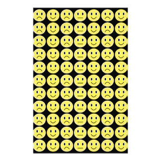 Yellow smiles personalized stationery