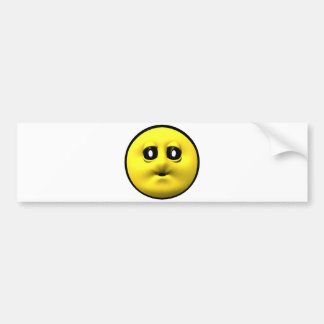 Yellow smiley blowing a kiss bumper sticker