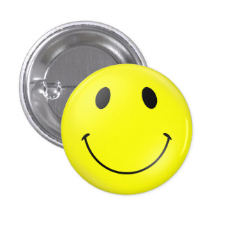 Yellow Smiley Face 3 Cm Round Badge