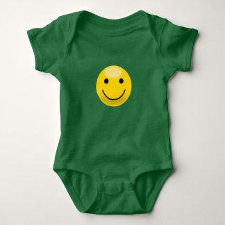 Yellow Smiley Face Baby Bodysuit