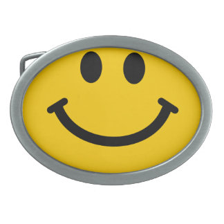 Yellow Smiley Face Belt Buckle