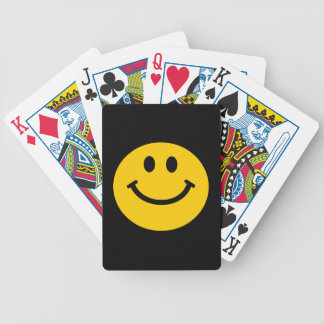 Yellow Smiley Face Bicycle Playing Cards