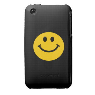 Yellow Smiley Face Case-Mate iPhone 3 Cases