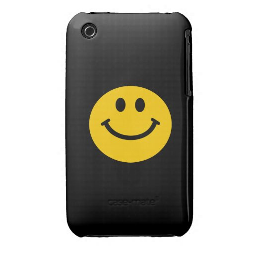 Yellow Smiley Face Case-Mate iPhone 3 Cases : Zazzle