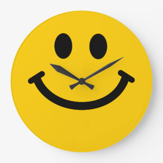 Yellow Smiley Face Clock