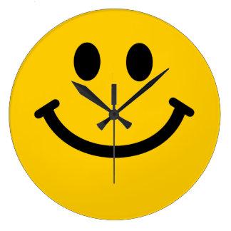 Yellow Smiley Face Clock