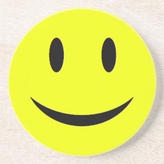 Yellow Smiley Face Coaster