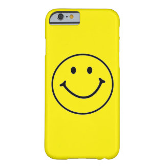 Yellow Smiley Face (Customizable) Barely There iPhone 6 Case