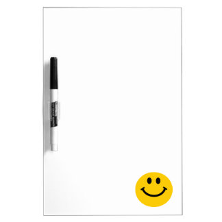 Yellow Smiley Face Dry Erase Board