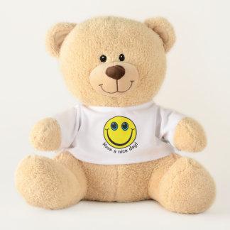 Yellow Smiley Face Have a Nice Day Medium Teddy Bear