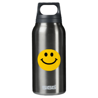 Yellow Smiley Face Insulated Water Bottle