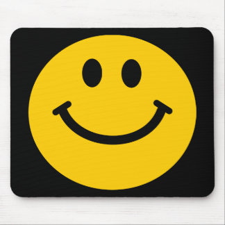Yellow Smiley Face Mouse Pad