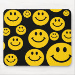 Yellow Smiley face mousepad