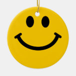Yellow Smiley Face Ornament Decoration