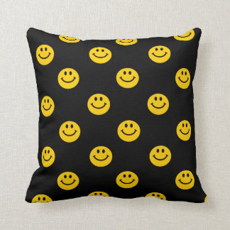 Yellow Smiley Face pattern cushion