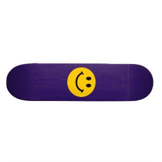 Yellow Smiley Face 21.6 Cm Skateboard Deck